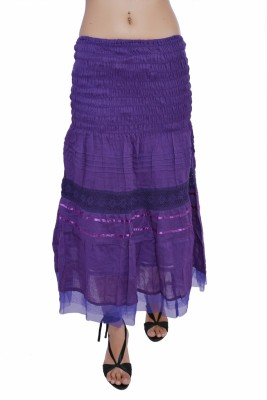 Jaipur Kala Kendra Solid Women's Regular Purple Skirt