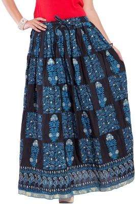 Decot Paradise Self Design Women's Regular Black Skirt