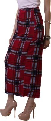 Belle Fille Checkered Women's A-line Red Skirt
