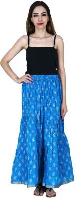 Home Shop Gift Embellished Women,s Tiered Blue Skirt