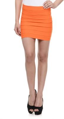 N-Gal Striped Women's Pencil Orange Skirt