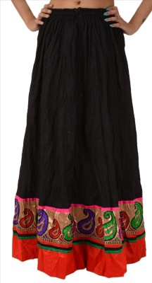 Skirts & Scarves Solid Women's A-line Black Skirt
