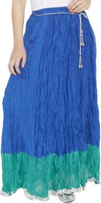 Globus Solid Women's Broomstick Blue Skirt