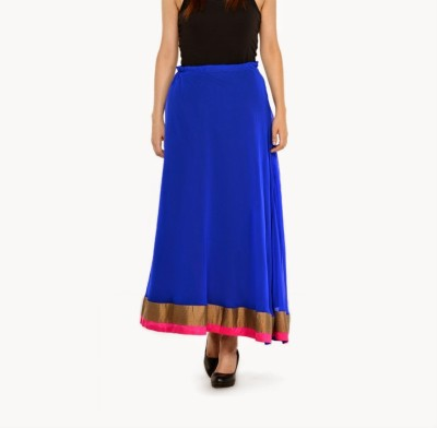 Navyou Solid Women's A-line Blue Skirt