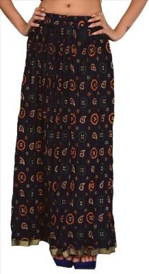 Skirts & Scarves Self Design Women's A-line Blue Skirt