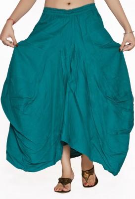 Jaipur Kala Kendra Solid Women's A-line Light Blue Skirt