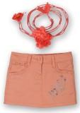 Lilliput Solid Girls Regular Orange Skir...