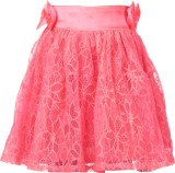 Le Luxe Embroidered Girls Gathered Pink ...