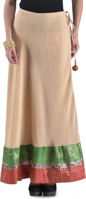 Navyou Solid Women's A-line Beige Skirt