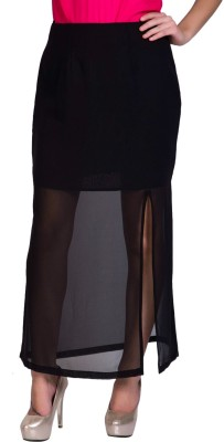 Sugar Her Solid Women's A-line Black Skirt