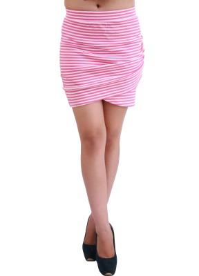 Hypernation Striped Women's Pink Skirt