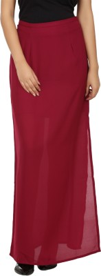 Tops and Tunics Solid Women's Tube Maroon Skirt