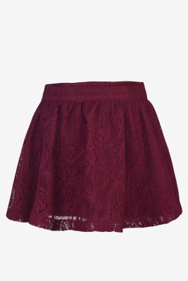 Pspeaches Self Design Girls A-line Purple Skirt at flipkart