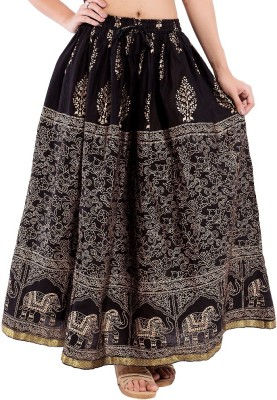 Decot Paradise Animal Print Women's Regular Black Skirt