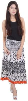 BigCart Printed Women's Regular Black, White Skirt