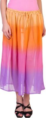Hlsangam Solid Women's Straight Multicolor Skirt