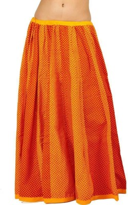 Indiangiftemporium Printed Women's Regular Yellow, Red Skirt