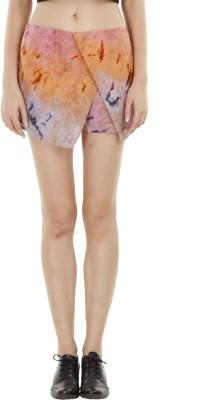 Fuziv Printed Women's Asymetric Multicolor Skirt