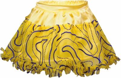 Bio Kid Embellished Girl's Gathered Yellow Skirt