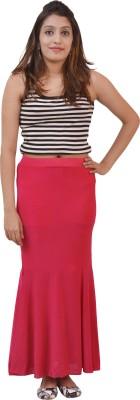 Ace Solid Women's Regular Pink Skirt