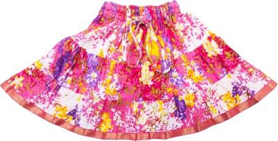 Sunshine Printed Women's A-line Pink Skirt