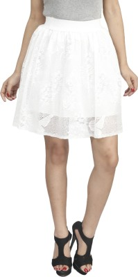 Naitik Printed Women's Regular White Skirt