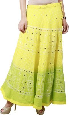 Haniya Printed Women's Regular Yellow Skirt