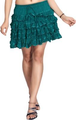 Carrel Solid Women's Broomstick Green Skirt