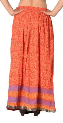 SBS Printed Women's Regular Red Skirt