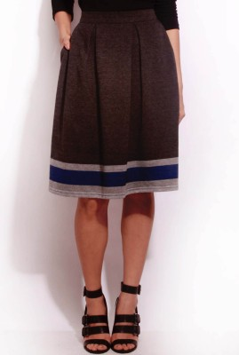 Change360? Printed Women's Pleated Grey Skirt