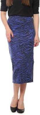 Vvoguish Solid Women's Straight Black Skirt