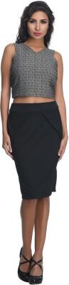 Rare Solid Women's A-line Black Skirt