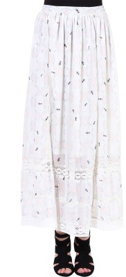 Oxolloxo Printed Women's A-line Multicolor Skirt at flipkart