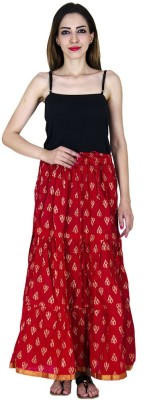 Home Shop Gift Embellished Women,s Tiered Red Skirt