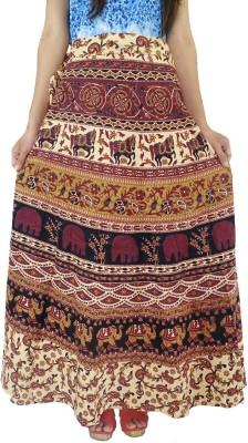 ShopMore Printed Women's Wrap Around Multicolor Skirt