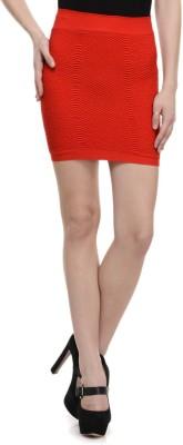 N-Gal Solid Women's Pencil Red Skirt