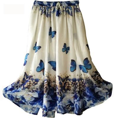 fashion ritmo Printed, Self Design Women's Straight Multicolor Skirt