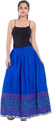 Decot Paradise Solid Women's Regular Blue Skirt