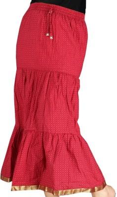 Jaipur Raga Printed Women,s Regular Red Skirt