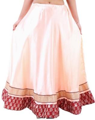 Vivancreation Embroidered Women's Regular Beige Skirt