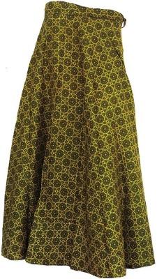 Jaipur Raga Floral Print Women's Regular Green Skirt