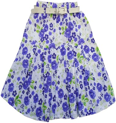 Sweet Angel Floral Print Girl,s Pleated Multicolor Skirt