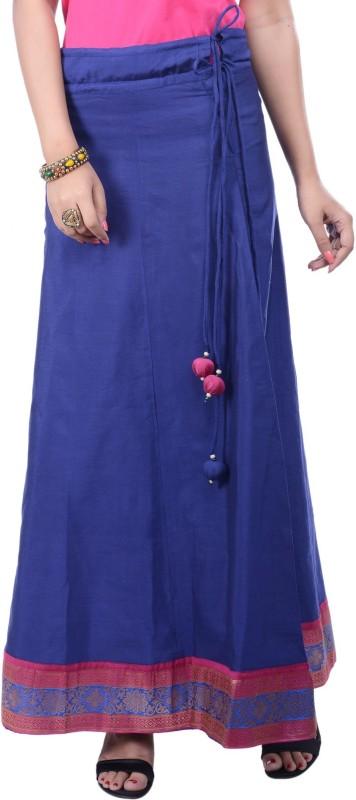 Rene Solid Women's A-line Blue Skirt