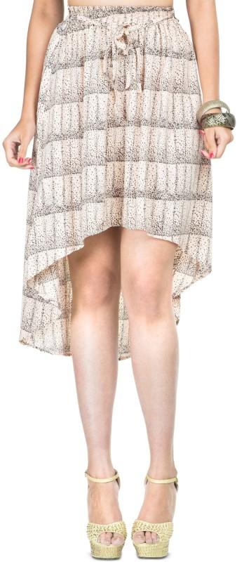 Zovi Printed Women's A-line Pink Skirt