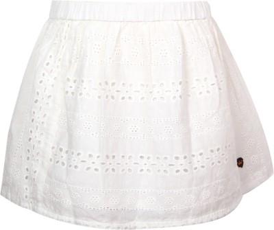 Vitamins Solid Girl's Regular White Skirt