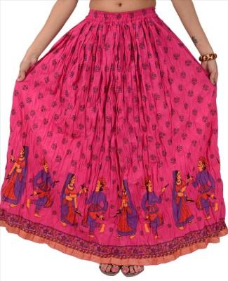 Skirts & Scarves Self Design Women's A-line Purple Skirt