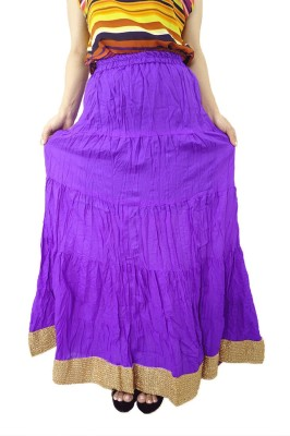 ShopMore Solid Women's Regular Purple Skirt