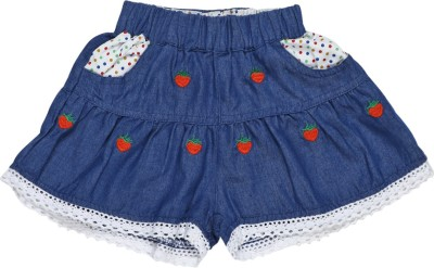 Baby Moshai Embroidered Girl's A-line Blue, Red Skirt