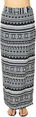 20Dresses Geometric Print Women's Straight Black, White Skirt