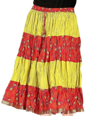 Jaipur Raga Printed Women,s Regular Yellow Skirt